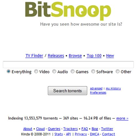 BitSnoop Alternatives and Similar Websites and Apps