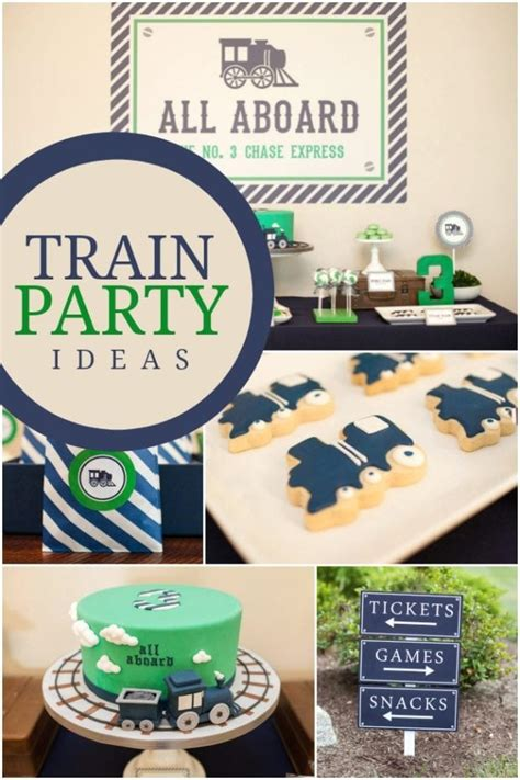 A Boy s Train Themed Birthday Party - Spaceships and Laser
