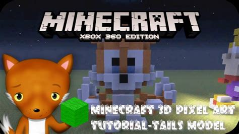 MineCraft 3D Pixel Art Tutorial - Tails From Sonic Model