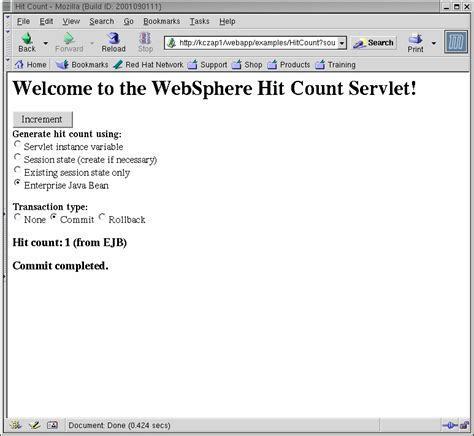 Speed-start your Linux application: Testing the WebSphere