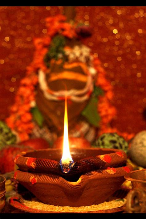 Akhand Jyot : The auspicious lamp | In India, during idol