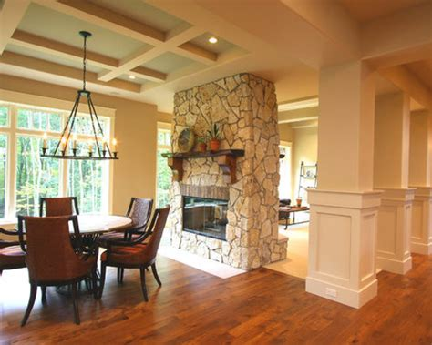 Two-Sided Fireplace Home Design Ideas, Pictures, Remodel